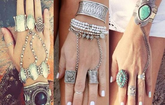 Beautiful bohemian hippie jewelry