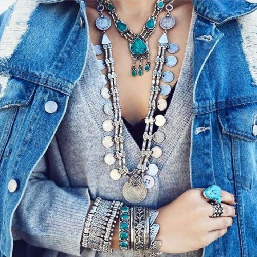boho layering necklaces