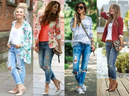 casual boyfriend jeans outfits