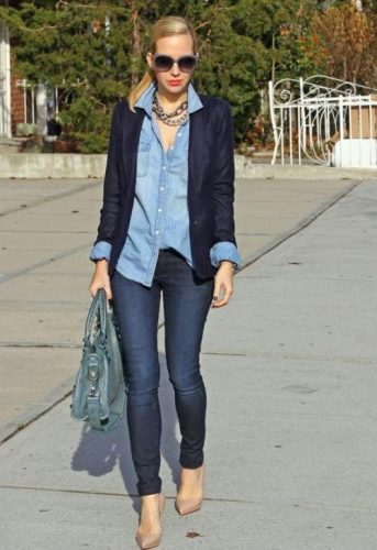 chambray shirt outfit,