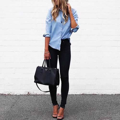 chambray-with-black-jeans