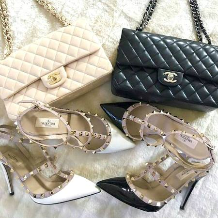 chanel bags with shoes