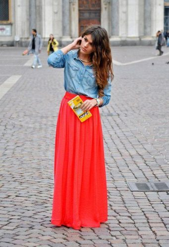 chiffon maxi skirt with shirt,