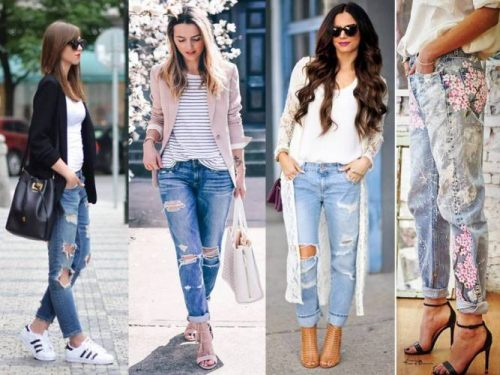 cute styles with boyfriend jeans