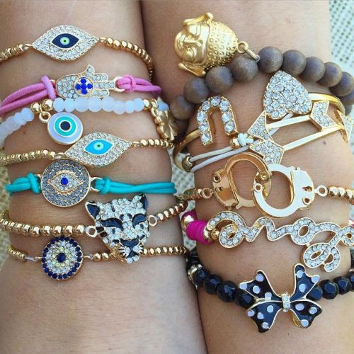 evil eye stacking jewelry