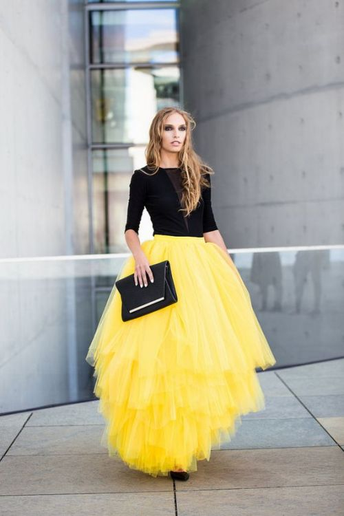 full maxi tulle skirt
