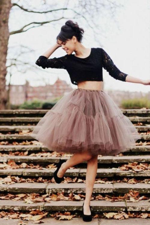 girly tulle skirt in nude