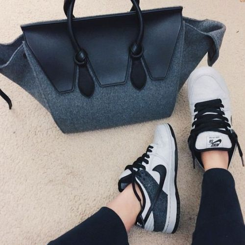 nike air with celine bag