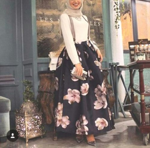 puffy volum skirt hijab