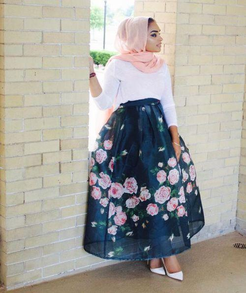 puffy volum skirt hijab look