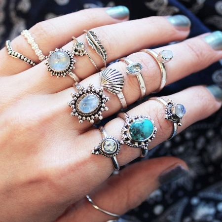 rings with small stones