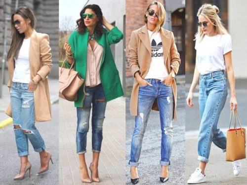 smart casual boyfriend jeans