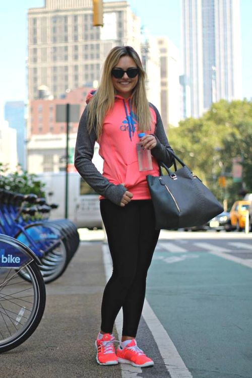 sporty neon outfit