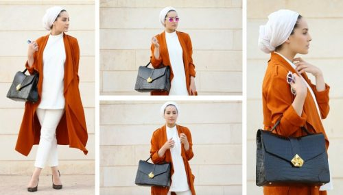 tan trench coat turban style