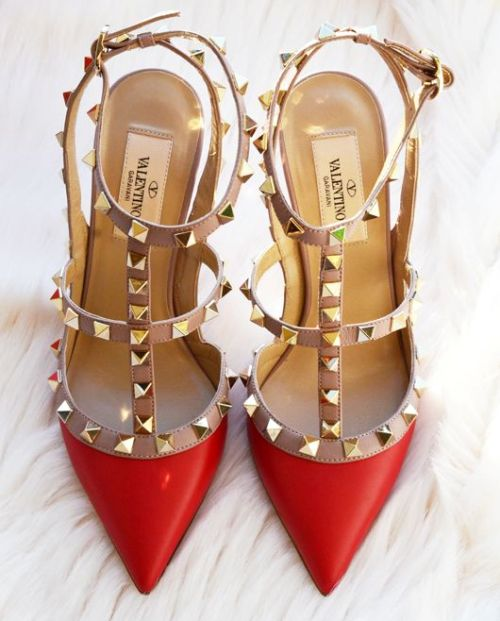 valentino red Studded Pumps