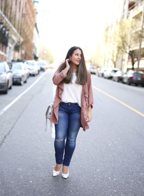 waterfall blush cardigan