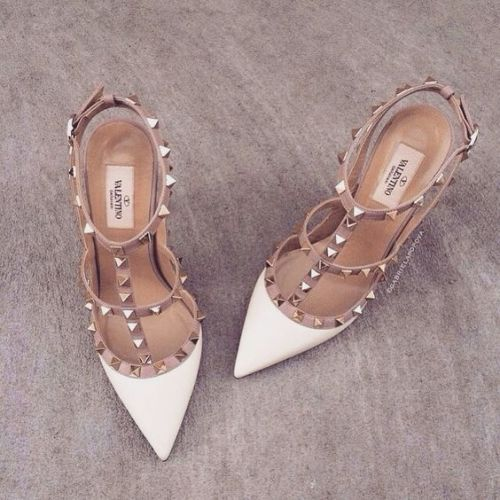 white studded shoes