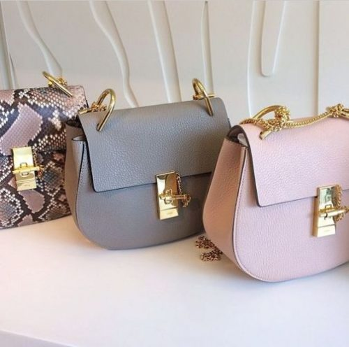 Chloe Paris Marcie small grey, pink bag