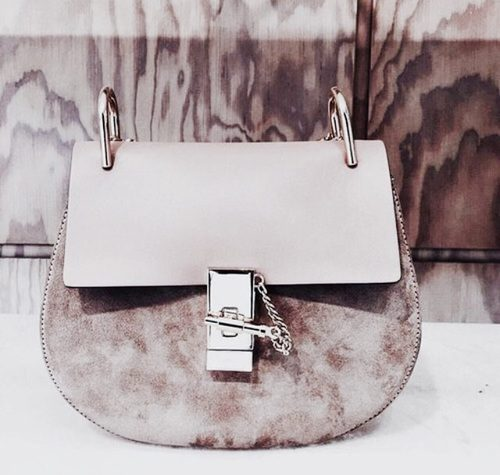 Chloe small shoulder bag 'Faye' in suede calfskin