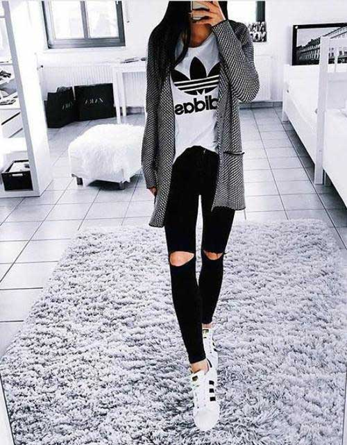 adidas-outfit-cardigan-and-black-jeans