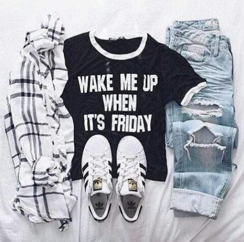 adidas tee and flannel,