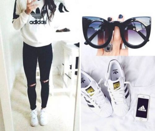 adidas white sweater