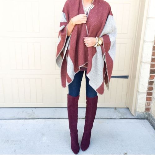 amazing poncho outfit