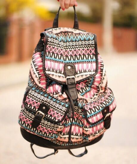aztec girly backpack