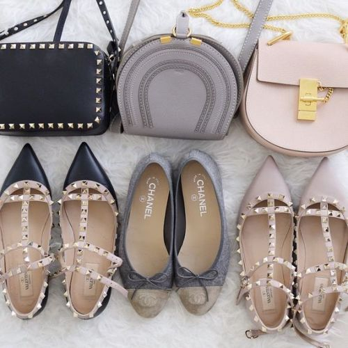 blush nude bags and pumps