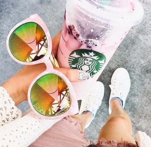 blush pastel mirror sunnies