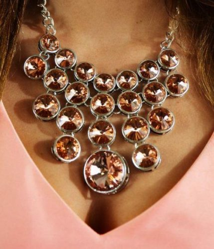 blush pearls statement necklace