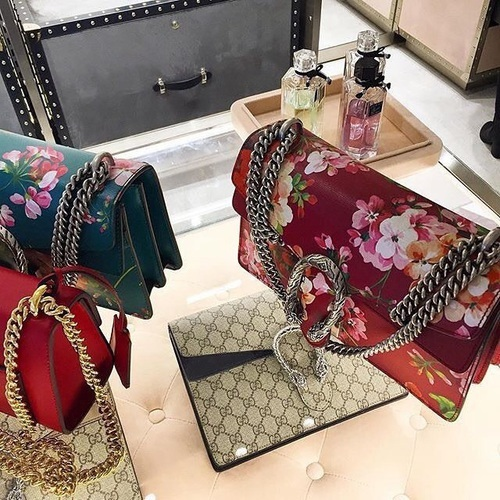 fashionable floral gucci bags,