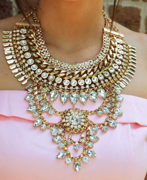 golden statement necklace