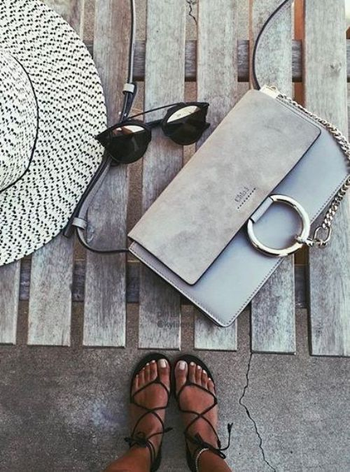 gray chloe bag