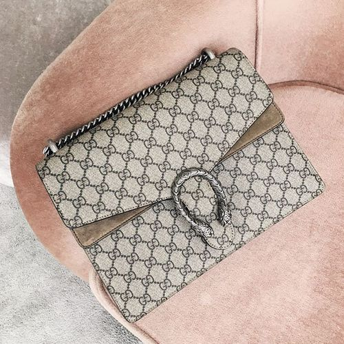 gucci Dionysus GG Supreme Canvas Shoulder Bag,