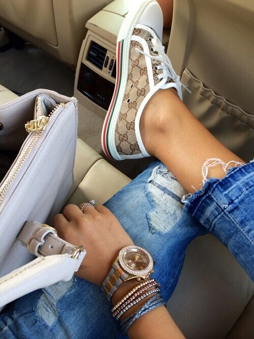 gucci shoes and bag,