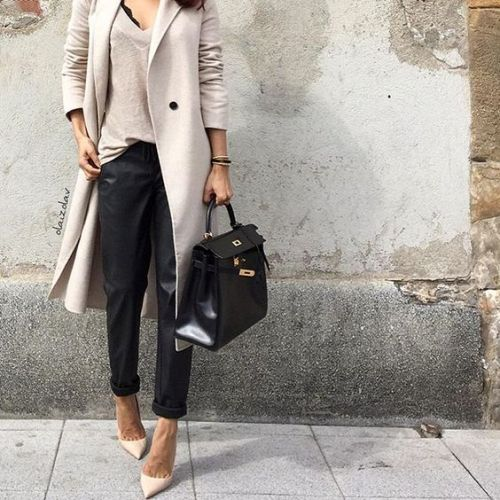 neutral chic classy outfit