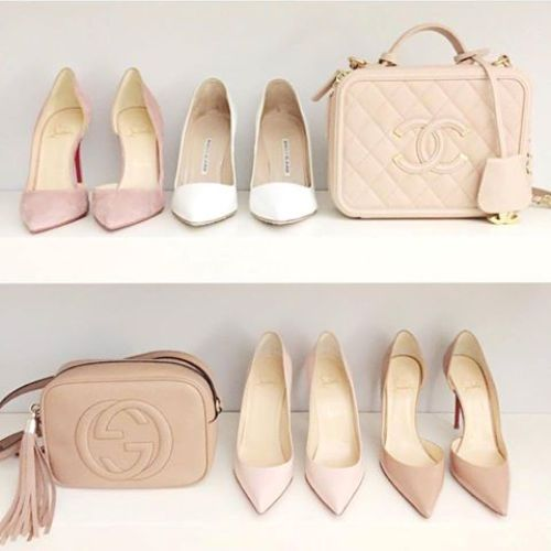 nude chic pumps