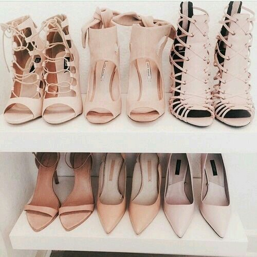 nude tan pumps
