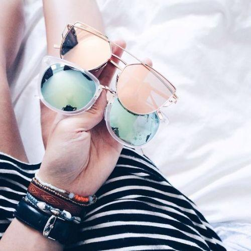 pastel mirror sunglasses