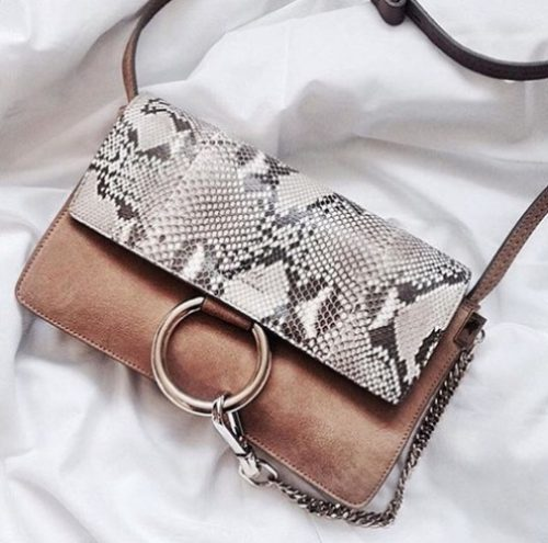 printed wild chloe bag