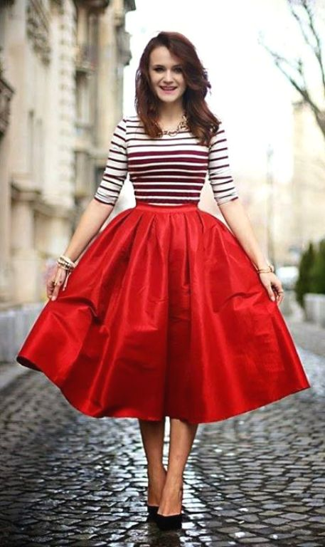Volume puffy midi skirt outfits – Just Trendy Girls