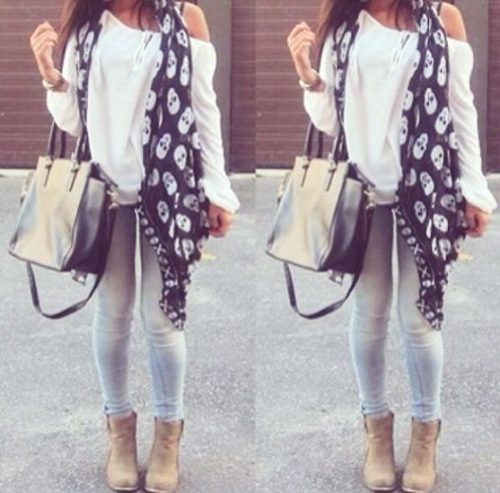scarf back to school looks