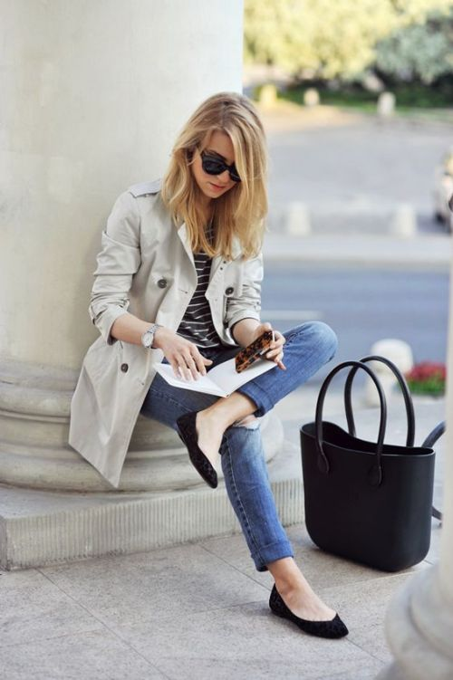 trench jacket chic style