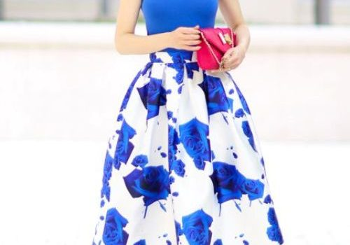 Volume puffy midi skirt outfits