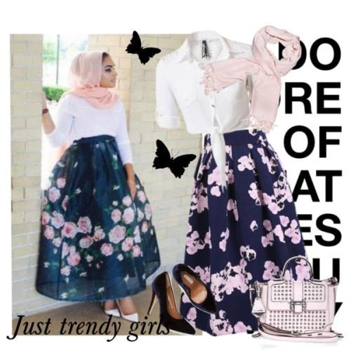 volume puffy aztec midi skirt hijab look,,,,,