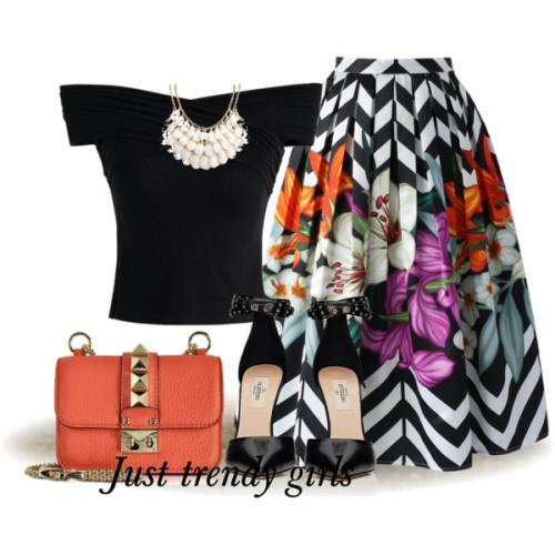 volume puffy aztec midi skirt,