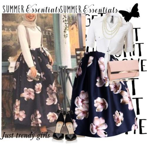 volume puffy aztec midi skirt,hijab look,,,