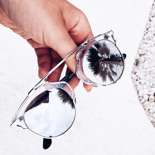 white mirror sunnies