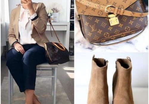 Hijab outfits with matching bags and shoes